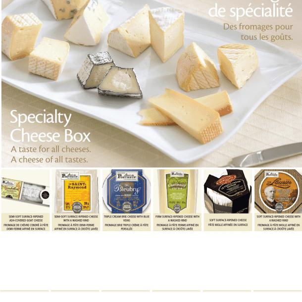 Boîte de fromages de spécialité